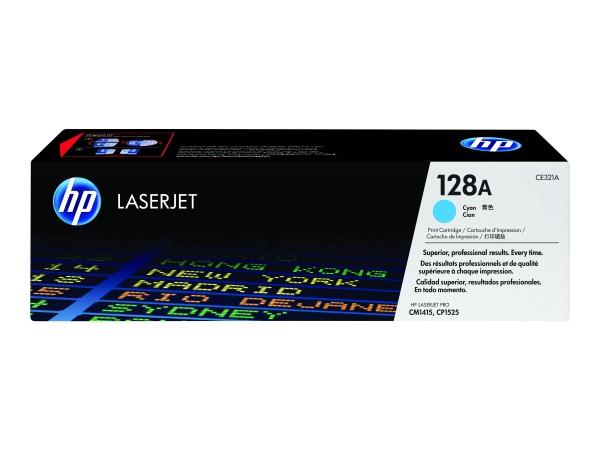 HP 128A - Cyan - Original - LaserJet - Tonerpatrone (CE321A)