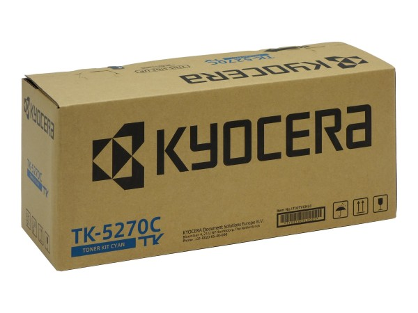 Kyocera TK-5270C Lasertoner 6000Seiten Cyan