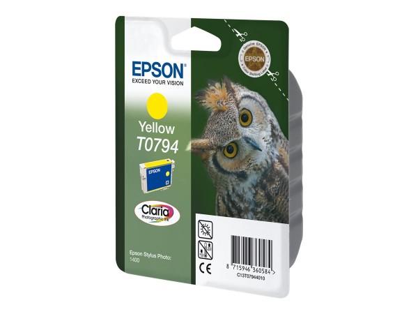 Epson T0794 - 11 ml - Gelb - Original - Blister mit RF- / aktustischem Alarmsignal