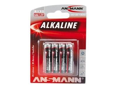 Ansmann Micro - Batterie 4 x AAA-Typ - Alkalisch