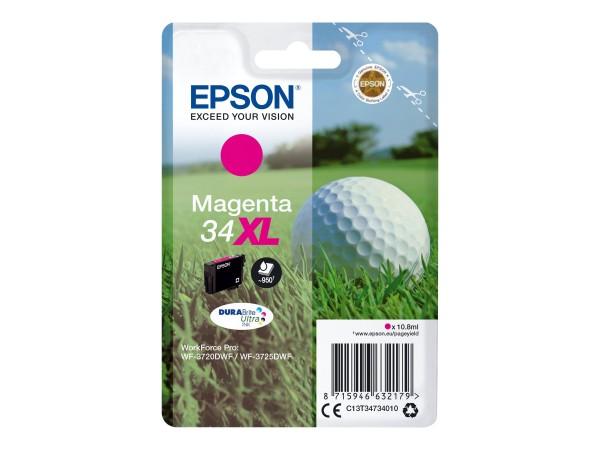 Epson 34XL - 10.8 ml - XL - Magenta - Original