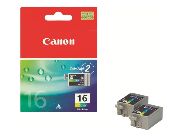 Canon BCI-16 - 2er-Pack - Gelb, Cyan, Magenta