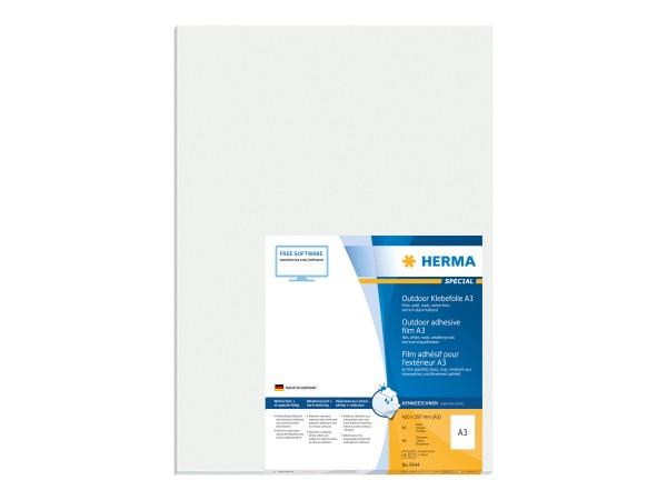 HERMA Special - Polyethylen (PE) - matt - extrem stark haftend - weiß - A3 (297 x 420 mm)