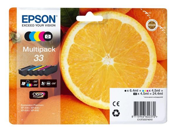 Epson 33 Multipack - 5er-Pack - 24.4 ml - Schwarz, Gelb, Cyan, Magenta, Photo schwarz