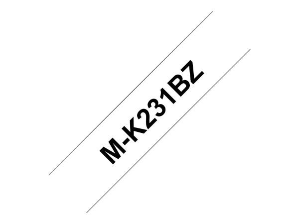 Brother M-K231BZ - Schwarz auf Weiß - Rolle (1,2 cm x 8 m)