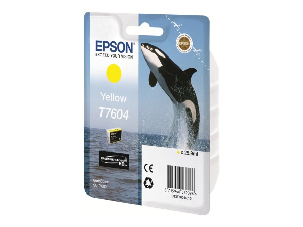 Epson T7604 - 26 ml - Gelb - Original - Blisterverpackung