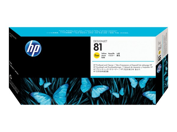 HP 81 - 13 ml - Dye-Based Yellow - Druckkopf mit Reiniger