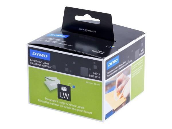 Dymo LabelWriter - Kunststoff - permanenter Klebstoff - durchsichtig - 36 x 89 mm 260 Etikett(en) (1