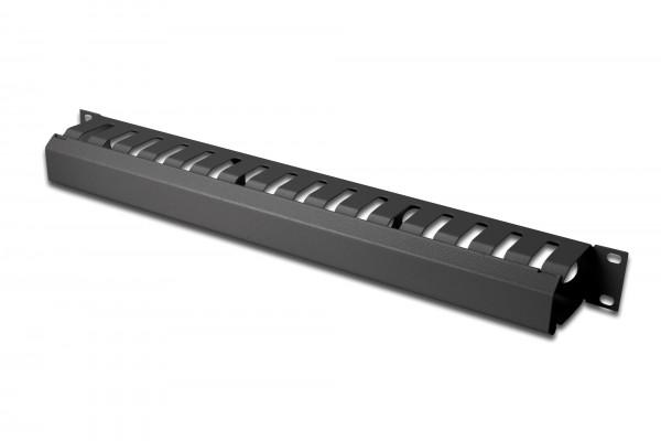 DIGITUS Kabelführungspanel mit abnehmbarer Blende für 483 mm (19)-Schränke, 1HE