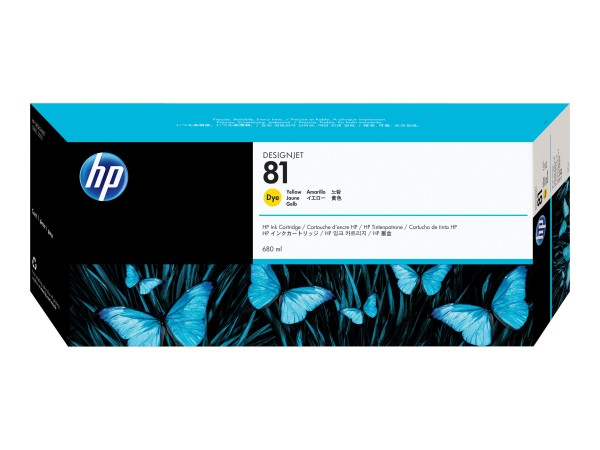 HP 81 - 680 ml - Dye-Based Yellow - Original
