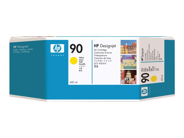 HP 90 - 400 ml - mit hoher Kapazität - Dye-Based Yellow