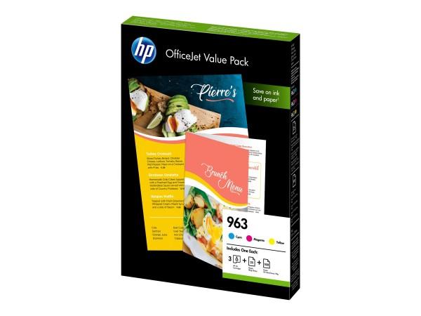 HP 963 Office Value Pack - 3er-Pack - Gelb, Cyan, Magenta