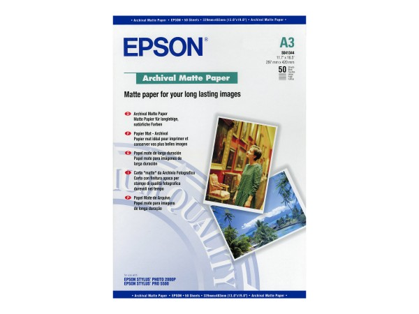 Epson Archival Matte Paper - Matt - A3 (297 x 420 mm)
