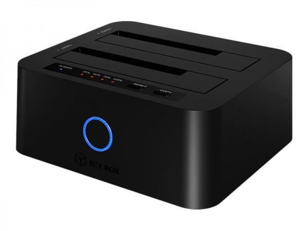 """ICY BOX ICY BOX IB-123CL-U3 - Speicher-Controller mit Datenanzeige, Netzanzeige - 2,5"""" / 3,5"""" gemein"""