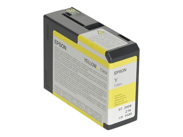 Epson T5804 - 80 ml - Gelb - Original - Tintenpatrone