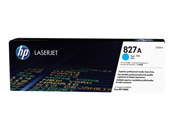HP 827A - Cyan - Original - LaserJet - Tonerpatrone (CF301A)