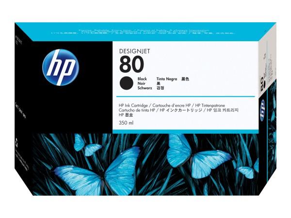 HP 80 - 350 ml - Schwarz - Original - Tintenpatrone