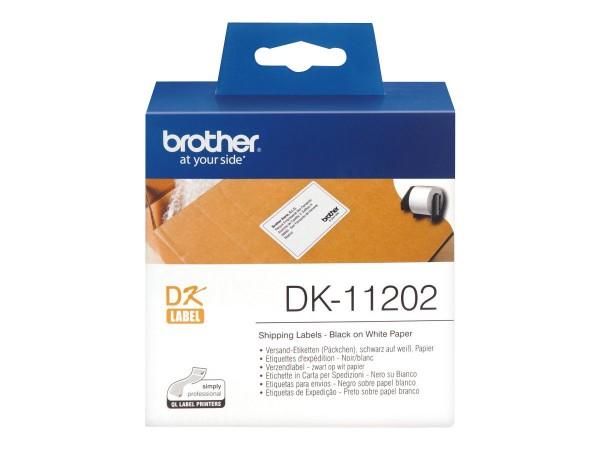 Brother DK-11202 - Schwarz auf Weiß - 62 x 100 mm 300 Etikett(en) (1 Rolle(n)