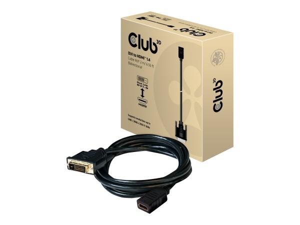 Club 3D CAC-1211 - Videokabel - Dual Link - HDMI / DVI - DVI-D (M)