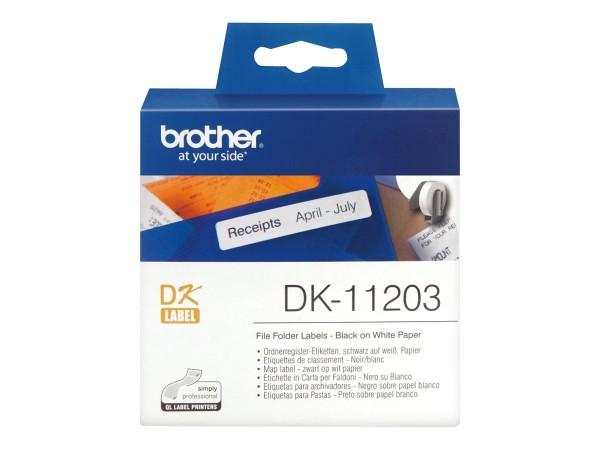 Brother DK-11203 - Schwarz auf Weiß - 17 x 87 mm 300 Etikett(en) (1 Rolle(n)