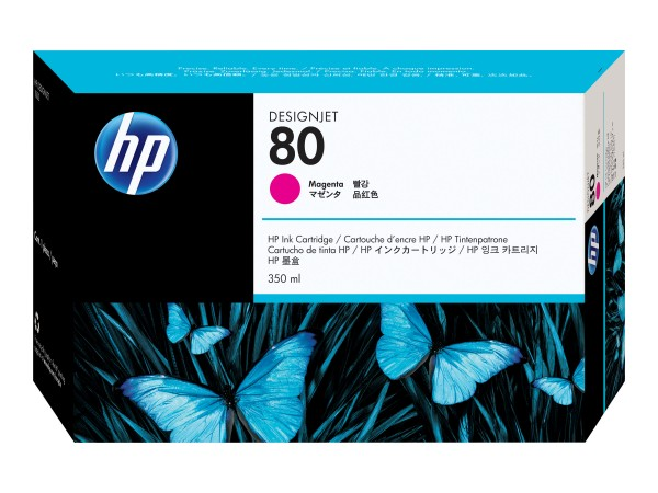 HP 80 - 350 ml - Dye-Based Magenta - Original