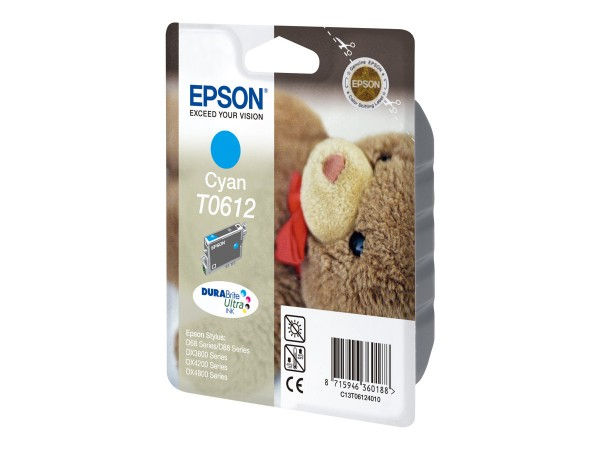 Epson T0612 - 8 ml - Cyan - Original - Blisterverpackung