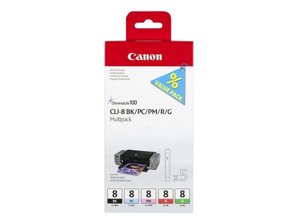 Canon CLI Value Pack 8 Multipack - 13 ml - Schwarz, Cyan, Magenta, Rot, grün