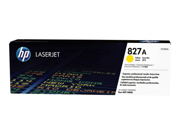 HP 827A - Gelb - Original - LaserJet - Tonerpatrone (CF302A)