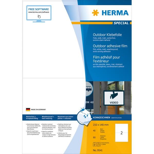 HERMA 9541 - Weiß - Rechteck - A4 - Universal - Polyethylen - Matte
