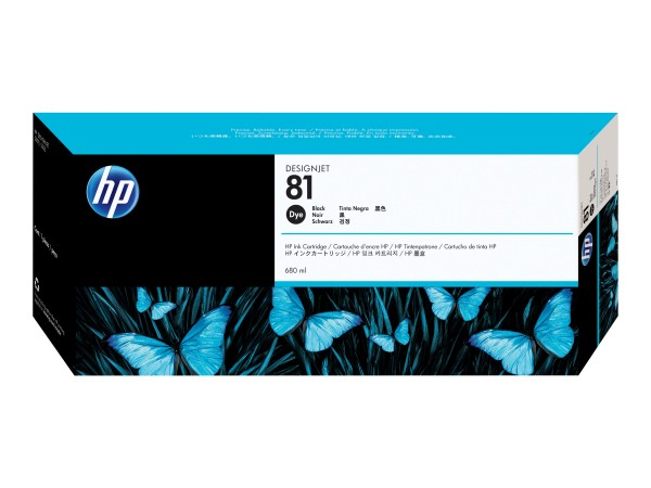HP 81 - 680 ml - Dye-Based Black - Original - DesignJet