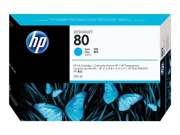 HP 80 - 350 ml - Dye-Based Cyan - Original - DesignJet
