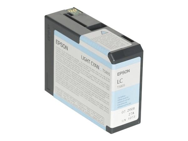 Epson T5805 - 80 ml - hell Cyan - Original - Tintenpatrone