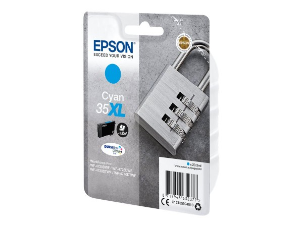 Epson 35XL - 20.3 ml - XL - Cyan - Original - Blisterverpackung