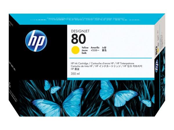 HP 80 - 350 ml - Dye-Based Yellow - Original