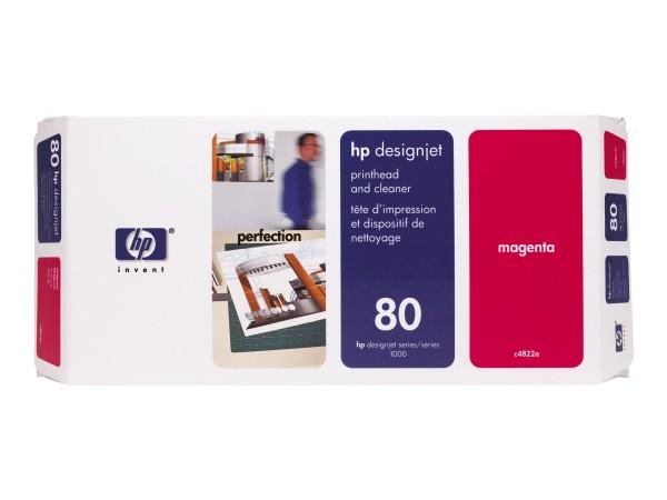 HP 80 - 17 ml - Dye-Based Magenta - Druckkopf mit Reiniger