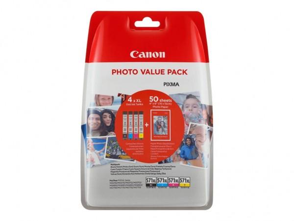 Canon CLI-571 XL C/M/Y/BK Photo Value Pack - 4er-Pack