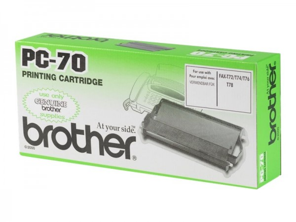Brother PC70 - 1 - Schwarz - Farbband - für FAX-T72