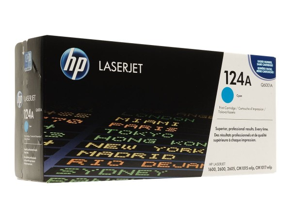 HP 124A - Cyan - Original - LaserJet - Tonerpatrone (Q6001A)