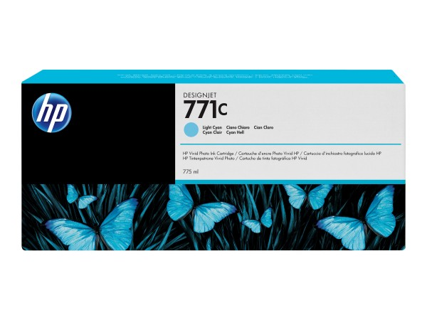 HP 771C - 775 ml - hell Cyan - Original - Tintenpatrone