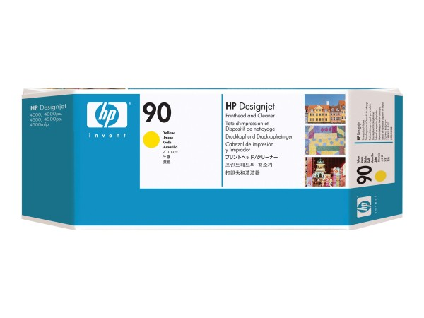 HP 90 - Dye-Based Yellow - Druckkopf mit Reiniger