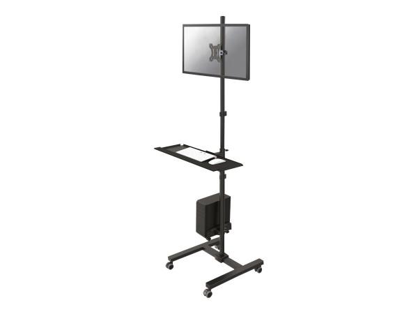 NewStar FPMA-MOBILE1700 - Wagen für LCD-Anzeige/Tastatur/Maus/CPU - Schwarz - Bildschirmgröße: 25.4-