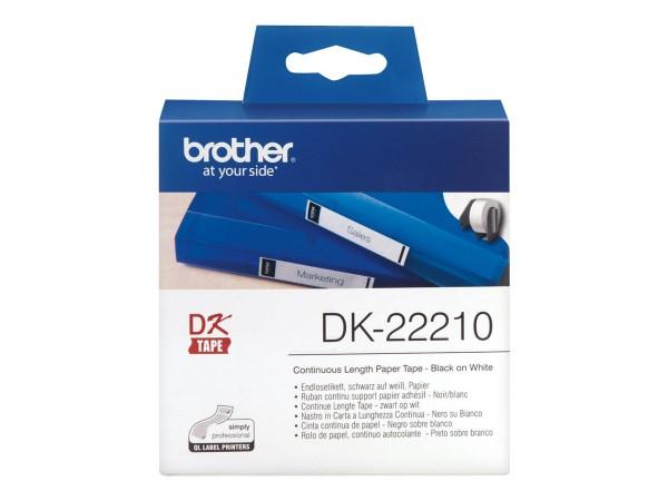 Brother DK-22210 - Schwarz auf Weiß - Rolle (2,9 cm x 30,5 m)