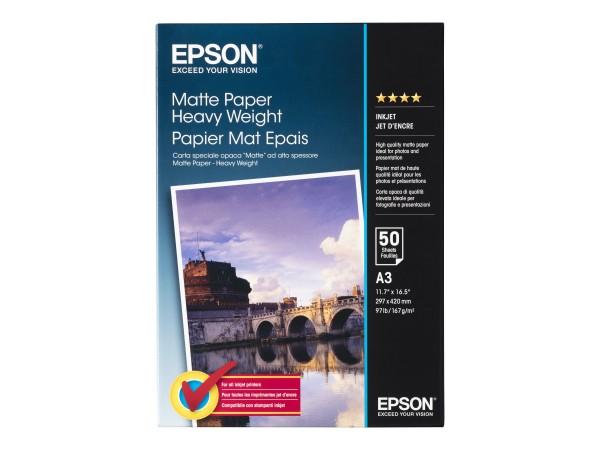 Epson Matt - A3 (297 x 420 mm) - 167 g/m² - 50 Blatt Papier