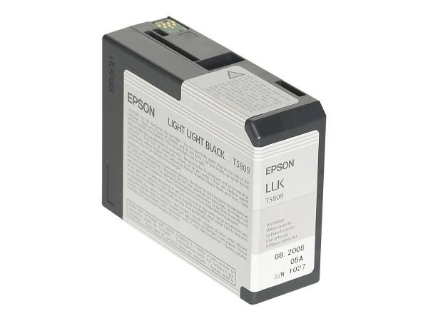 Epson T5809 - 80 ml - Light Light Black - Original