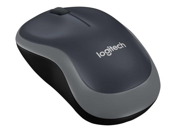 Logitech M185 - Maus - optisch - kabellos - 2.4 GHz - kabelloser Empfänger (USB)