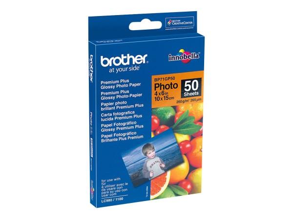 Brother BP - Glänzend - 100 x 150 mm 50 Blatt Fotopapier