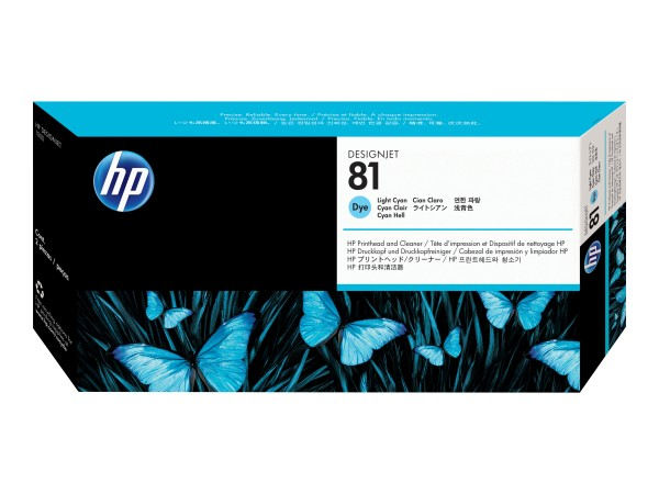 HP 81 - 13 ml - Dye-Based Light Cyan - Druckkopf mit Reiniger