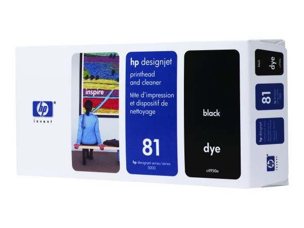 HP 81 - 13 ml - Dye-Based Black - Druckkopf mit Reiniger