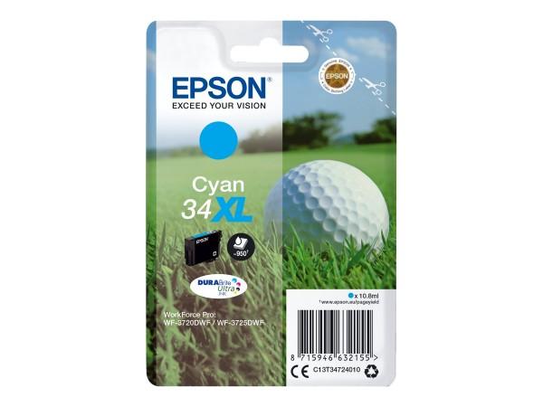 Epson 34XL - 10.8 ml - XL - Cyan - Original - Tintenpatrone
