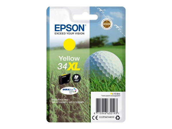 Epson 34XL - 10.8 ml - XL - Gelb - Original - Blisterverpackung